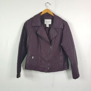 American Rag Non Leather Quilted Moto Jacket
